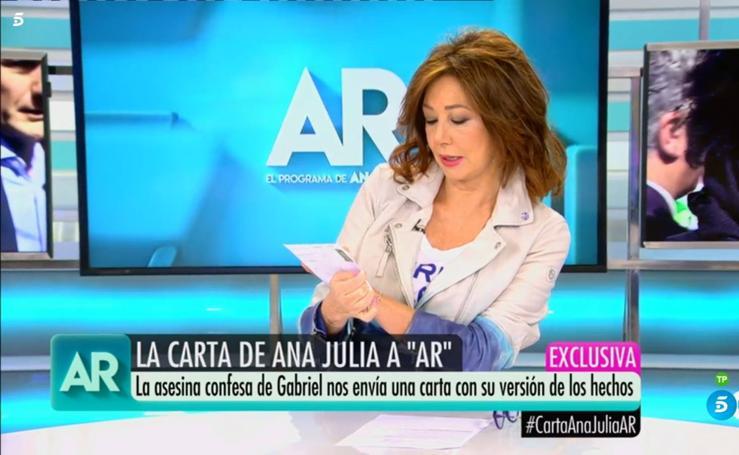 Lluvia de críticas a Ana Rosa por lo ocurrido con Ana Julia y la muerte de Gabriel