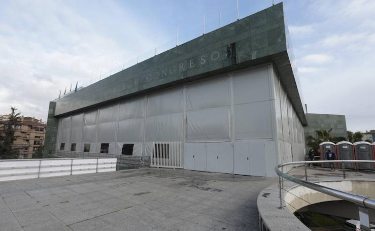 Clausuran el escenario del Palacio de Congresos para el 'Granada Experience' por falta de licencia