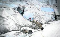 ¿Por qué colocan mantas en los glaciares?