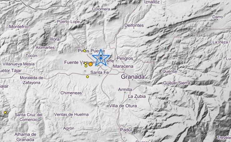 Así han sido los 3 terremotos de este viernes en Granada