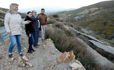 El PP critica el estado lamentable de la A-348 en el tramo entre Cádiar y Yátor