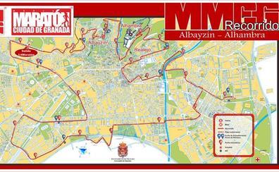 Estas son las calles que se cortan al tráfico esta tarde por la Media Maratón de Granada