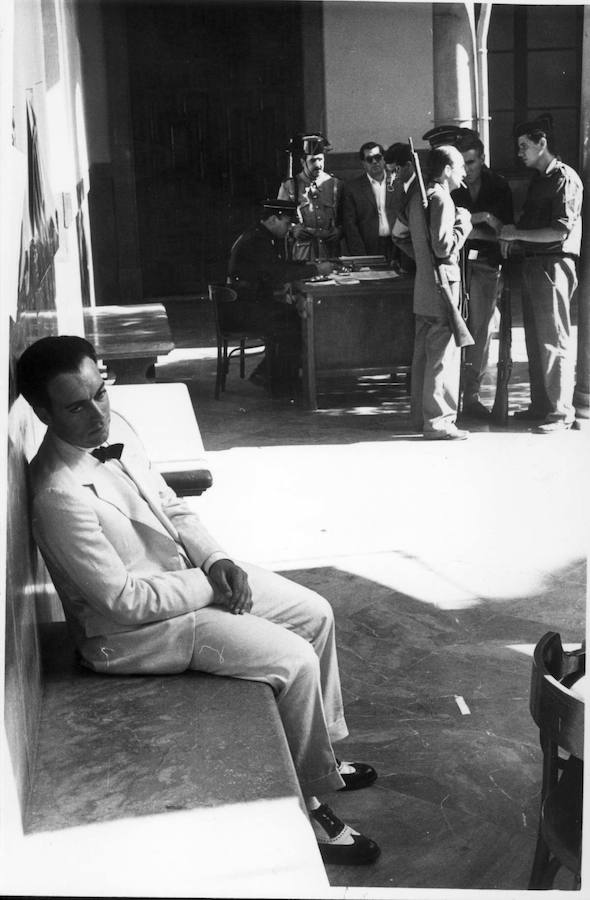 Escenas del rodaje 'Lorca, muerte de un poeta'
