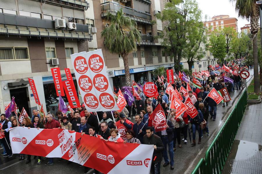 Manifestación del Día Internacional del Trabajo en Jaén