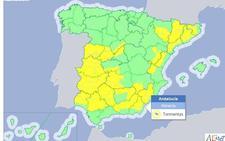 Aviso amarillo por tormentas en el interior de la provincia