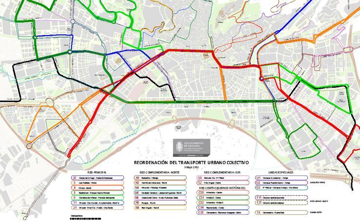 Líneas de autobuses de Granada (propuesta de mayo de 2018)