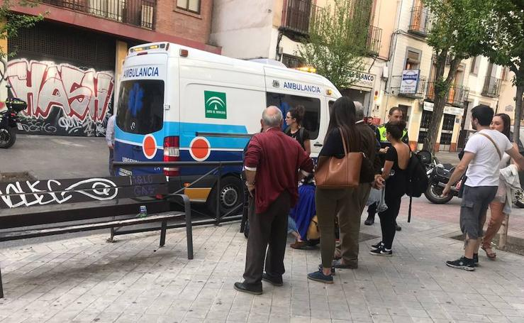 Accidente en calle Real de Cartuja