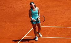 Carla Suárez se despide en cuartos de final