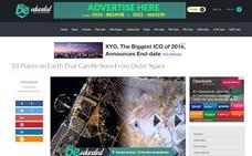 Una web de Pakistán cita Almería como uno de los lugares que se pueden ver desde el espacio