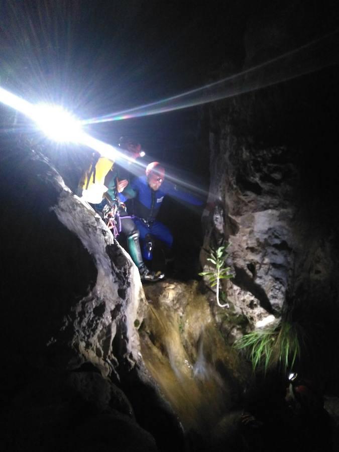 Las imágenes del rescate en rio Verde