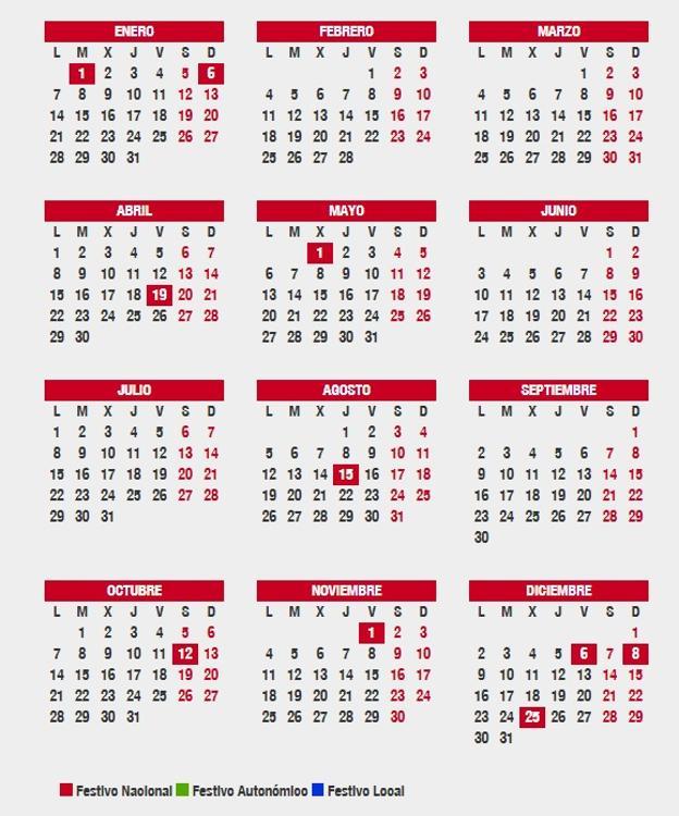 Calendario Laboral 2020 Sevilla.Aprobado El Calendario Laboral 2019 En Andalucia Los Festivos Y