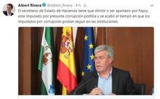 Rivera dice que el número dos de Montoro debe dimitir o ser cesado al ser imputado