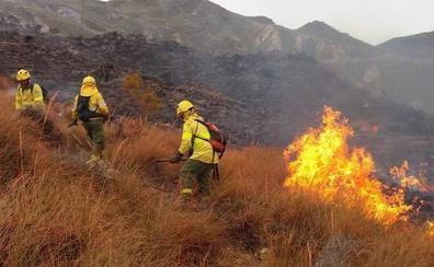 Incendio forestal en un paraje de Rioja