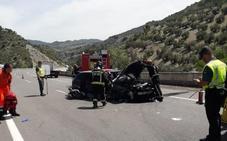 Un herido en un accidente en la A-44 en Jaén