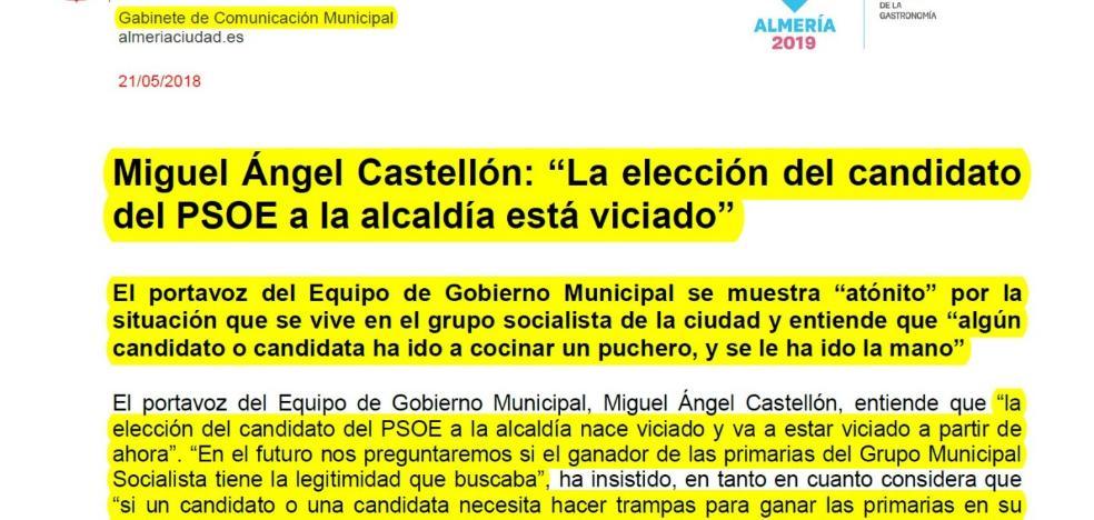 El PSOE exige al PP que deje de usar el gabinete de prensa municipal como altavoz de su partido
