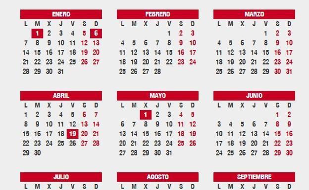 Calendario Laboral Jaen 2020.Aviso El Macropuente Y Los Dos Puentes Que Vemos En El Calendario
