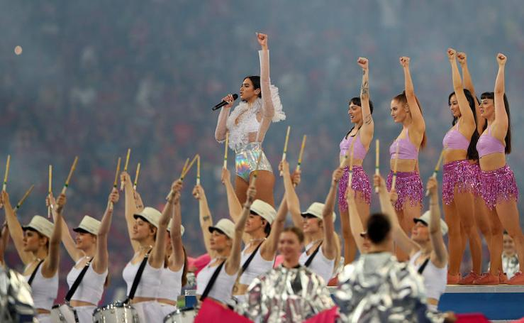 La actuación de Dua Lipa durante la final de la Champions