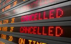 Cancelado un vuelo de Granada a Barcelona por intensas tormentas