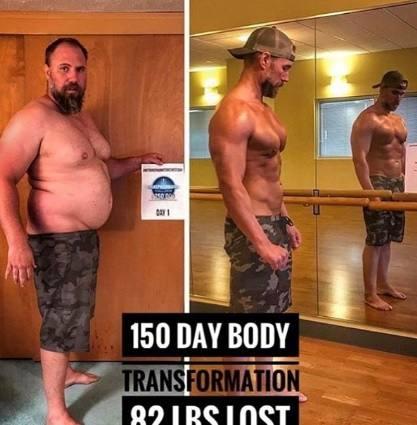 Este hombre de 40 años perdió más de 40 kilos en apenas 150 días