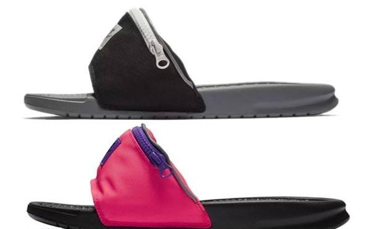 Así son las revolucionarias sandalias riñoneras de Nike