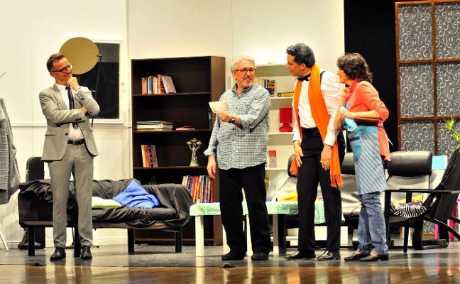El grupo Lapsus de Talía acierta con la obra 'El nombre', su último estreno en el Cervantes
