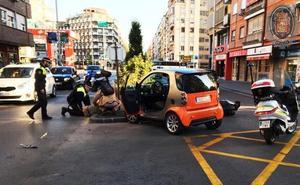 Herido grave un motorista en un accidente en el Camino de Ronda