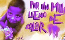 Grafiti por la convivencia en el barrio intercultural de Peñamefécit