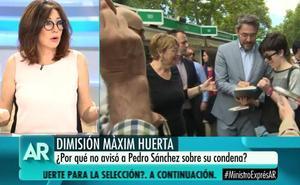 El inesperado 'palo' de Ana Rosa Quintana a Màxim Huerta tras su dimisión