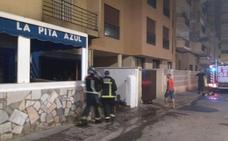 Explosión en el restaurante La Pita Azul