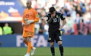 Messi y Argentina se estrellan contra el muro islandés