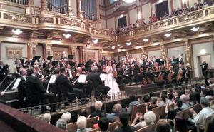 Espectacular triunfo de María Dueñas en la Sala Dorada del Musikverein