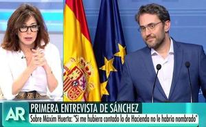 Ana Rosa explota contra Pedro Sánchez para defender a Màxim Huerta