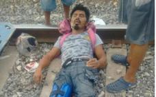 Un borracho pierde un pie al quedarse dormido en las vías del tren