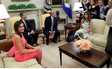 Donald Trump recibe a los Reyes de España