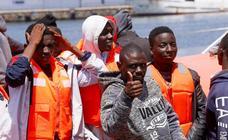 La llegada de los migrantes, imagen a imagen