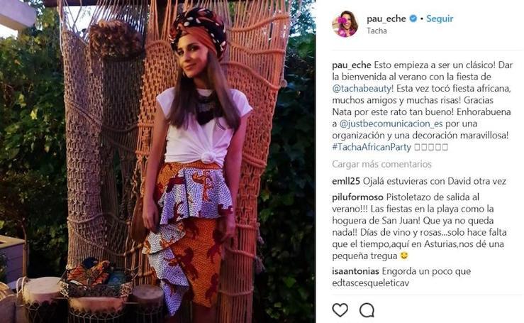 Las imágenes de Paula Echevarría en su fiesta africana