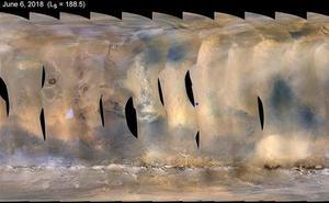 La intensa nube de polvo sobre Marte preocupa a la NASA