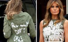 Estallan las críticas contra Melania Trump por el mensaje oculto en su chaqueta de Zara
