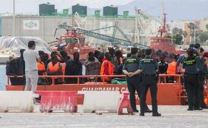 Rescatados 149 inmigrantes en el mar de Alborán