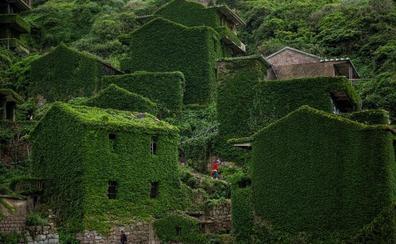 La aldea tomada por la vegetación: así se vive en el pueblo verde