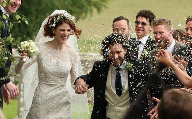 Las fotos de la boda de Kit Harington y Rose Leslie