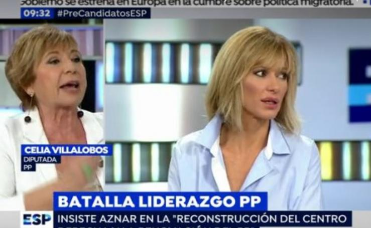 Las caras de Susanna Griso perdiendo la paciencia con Celia Villalobos en Espejo Público