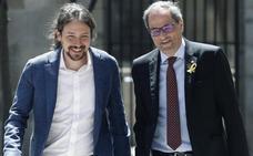 Pablo Iglesias dice que le «consta» que «la vía unilateral no está en la agenda» del Govern de Cataluña
