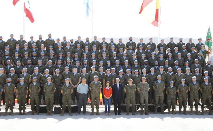 La ministra de Defensa visita la 'Línea Azul' en Líbano