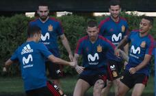 La Roja adelanta su entrenamiento por el calor