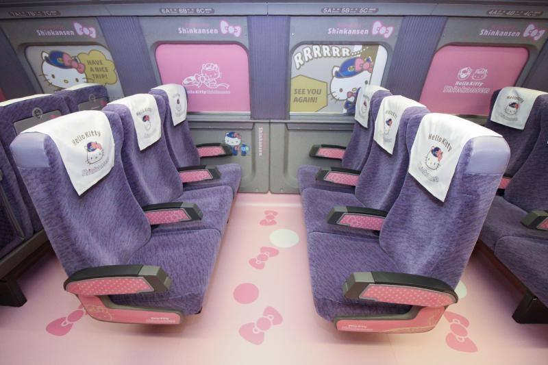 Las presentamos el primer tren Hello Kitty del mundo