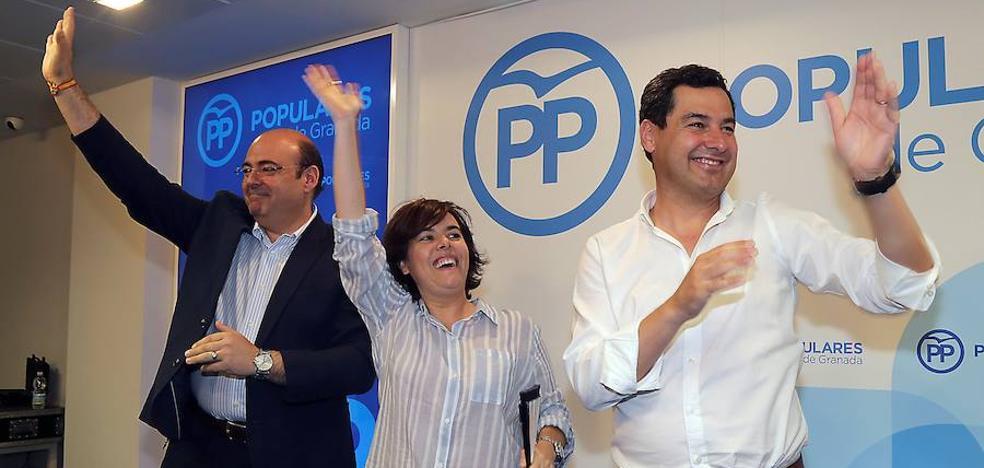 Juanma Moreno se pronuncia en público a favor de Santamaría
