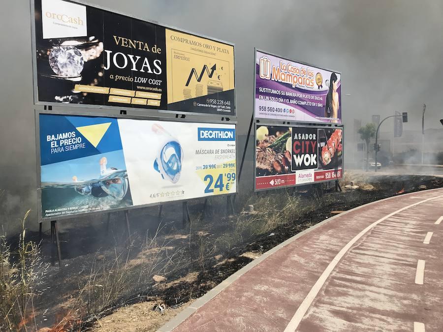 Llamativo incendio en el entorno de Kinépolis