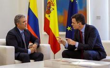 Sánchez se reúne con el presidente electo de Colombia para «estrechar lazos»