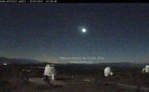 Una bola de fuego surca el cielo desde Almería hasta Murcia